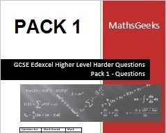 GCSE Higher Level Questions Pack 1