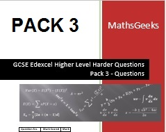 GCSE Higher Level Questions Pack 3